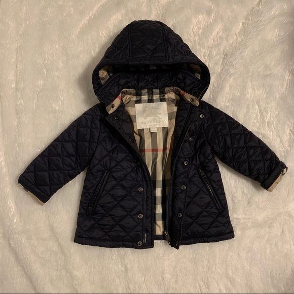 85a111409 Burberry Jackets & Coats | Children Diamond Quilted Hooded Jacket ...